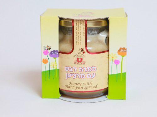 ממרח דבש עם מרציפן באריזה