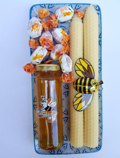 חבילת שי עם נרות דונג