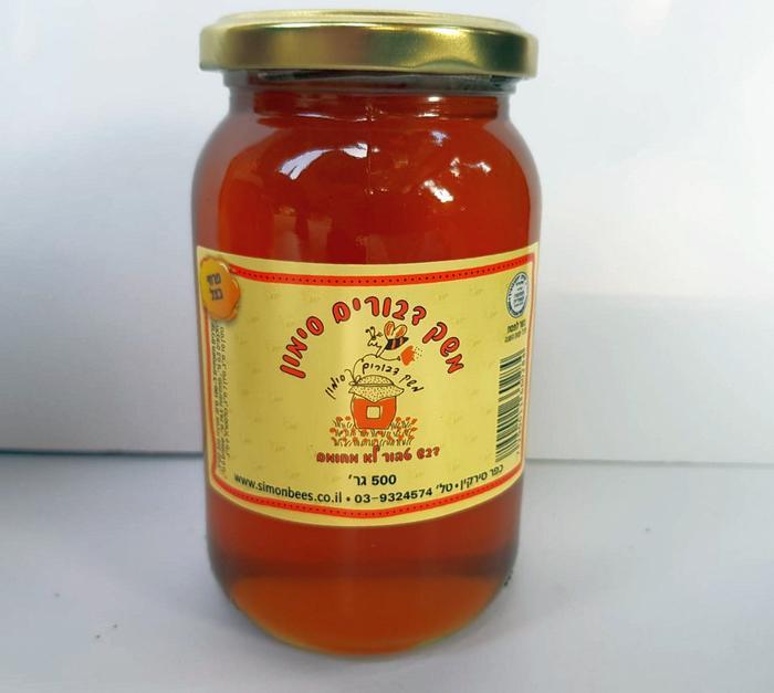דבש טהור בצנצנת זכוכית 500 גרם